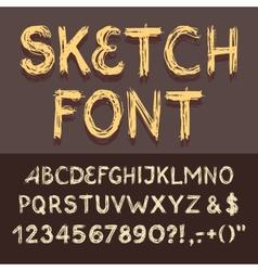 Sketch alphabet set vector