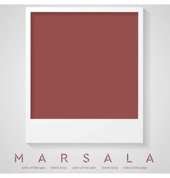 Trendy color marsala 2015 polaroid frame vector