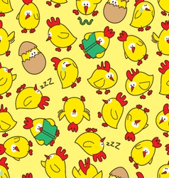 Chicken seamless pattern vector