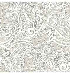 Paisley seamless lace pattern vector