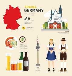 Travel concept germany landmark flat vector