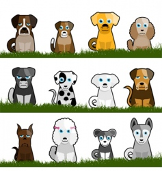 Cute dogs vector