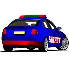 Al 0443 sheriff car vector