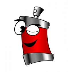 Spray can cartoon vector