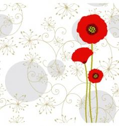 Springtime poppy vector