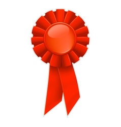 First place red ribbon vector