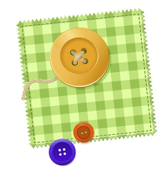 Patch and buttons vector
