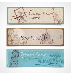 World landmark banners vector