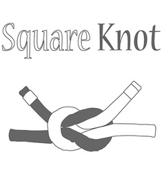 Square knot silhouette vector