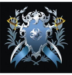 Blue blazon vector