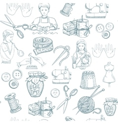 Handmade seamless pattern vector