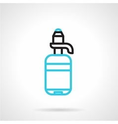 Bottle with pump line icon vector