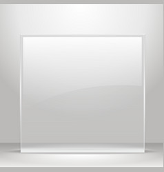 Glass frame for images and advertisement vector