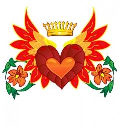 Valentine card decor heart vector