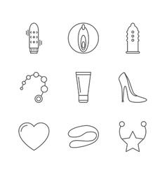 Sex shop icons vector