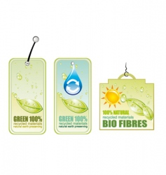 Recycle and bio tag icons vector