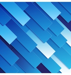 Abstract blue paper rectangle shapes background vector
