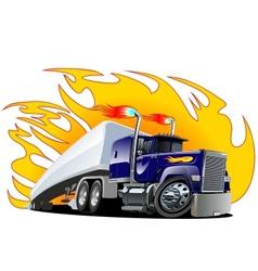 Cartoon semi truck oneclick repaint vector