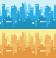 City skyscraper silhouette background vector