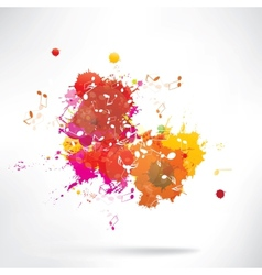 Abstract background notes and splatter vector