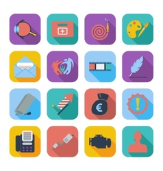 Color flat icons 8 vector
