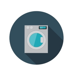 Flat design concept washing machine with lon vector