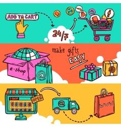 E-commerce banner set vector