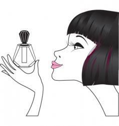 Girl perfume vector
