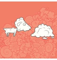 Cute hand drawn sheep vector