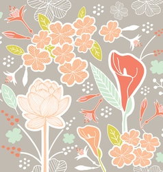 Flower pattern set 1a vector