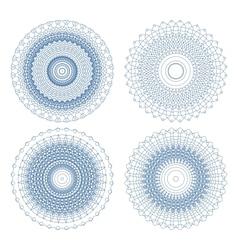 Set of ornament rosettes vector
