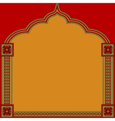 Indian pattern frame vector