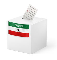 Ballot box with voting paper somaliland vector
