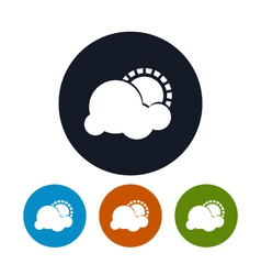 Icon partly cloudy vector