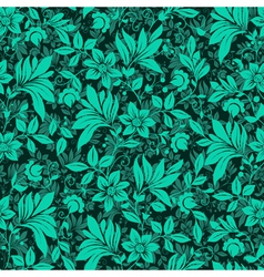 Floral hedge pattern vector