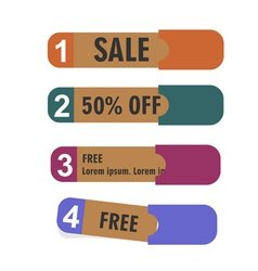 Old paper banners stickers badges vector