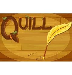 A frame with a quill label vector