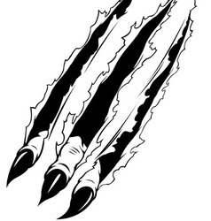 Claws ripping paper vector