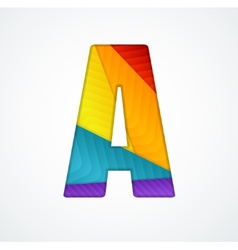 Paper letter a vector