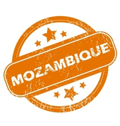 Mozambique grunge icon vector