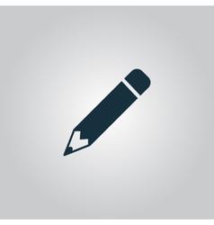 Pencil icon flat design vector