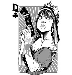 Queen gun vector