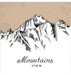 Snow mountain peak vector