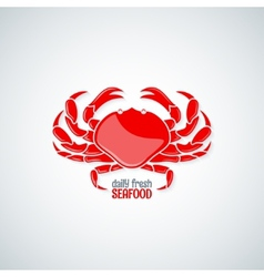 Crab seafood menu background vector