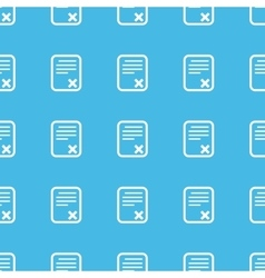 Declined document straight pattern vector