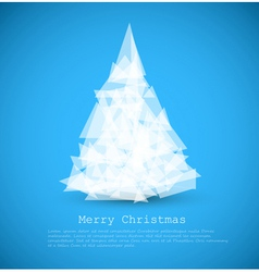 Modern christmas tree vector