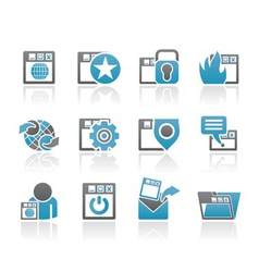 Website and security icons vector