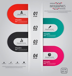 Minimal infographics options elements vector
