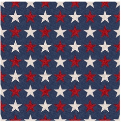 Seamless patriotic usa stars flag background vector