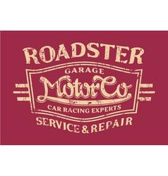 Roadster motor company vector